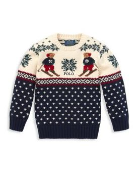 Little Boy's & Boy's Cotton & Merino Wool Sweater by Ralph Lauren