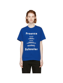 Blue Pswl Care Label T Shirt by Proenza Schouler