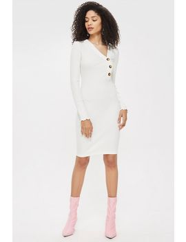Tall Buttoned Mini Bodycon Dress by Topshop