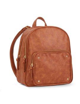 No Boundaries Cognac Front Zip Pocket Backpack by No Boundaries