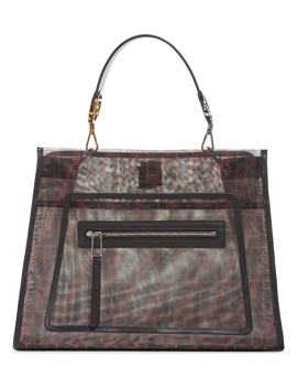 Runaway Printed Logo Mesh Satchel by Fendi