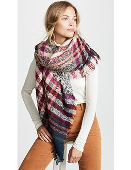 Bright Plaid Blanket Scarf by Hat Attack