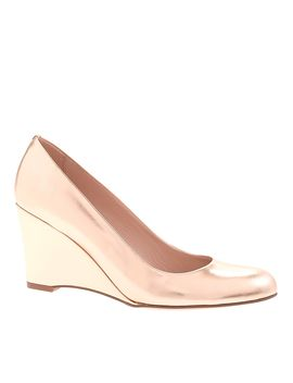 Martina Metallic Wedges by J.Crew