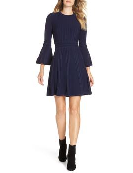 Bell Sleeve Sweater Dress by Eliza J