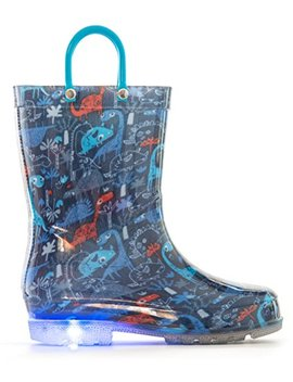 Mofever Toddler Boys Girls Printed Light Up Rain Boots (Snow/Cars/Dinosaur/Umbrella) by Mofever