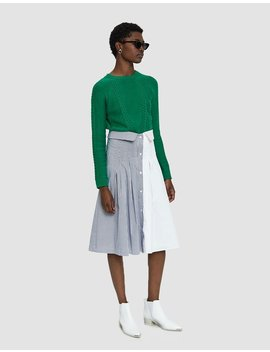 Minia Two Tone Shirting Skirt by Farrow