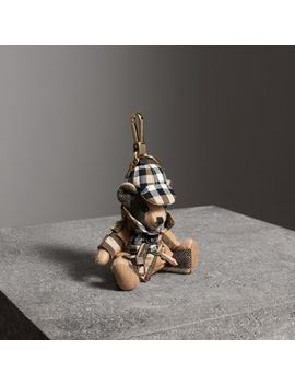 Thomas Bear Charm In Vintage Check Trench Coat by Burberry