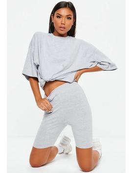 Grey Jersey Cycling Shorts by Missguided
