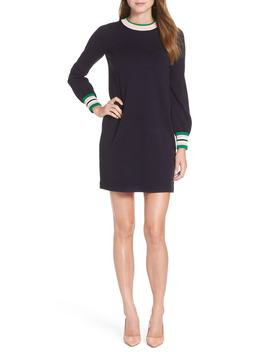 Varsity Stripe Sweater Dress by 1901