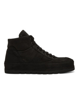 Black Nubuck Sneakers by Ann Demeulemeester