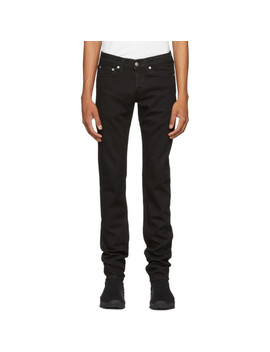 Black Masc Lo Drainpipe Jeans by Helmut Lang