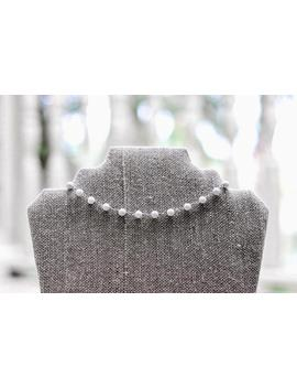 White And Silver Choker by Etsy
