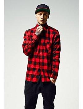 Urban Classics Herren Checked Flanell Shirt, Holzfällerhemd, Flanellhemd Langarm Mit Aufgesetzten Brusttaschen by