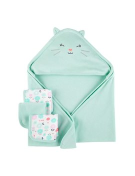 Hooded Towels & Washcloths, 4pc Set (Baby Boys Or Baby Girls Unisex) by Child Of Mine By Carter's