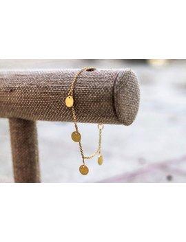 Dainty Gold Dangle Bracelet by Etsy