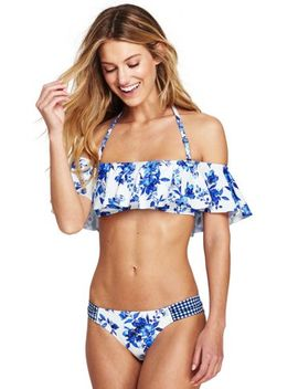 Women's Flounce Bikini Top by Lands' End