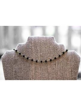 Black And Gold Beaded Choker by Etsy