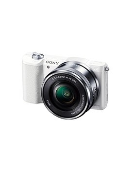 Sony A5100 16 50mm Mirrorless Digital Camera With 3 Inch Flip Up Lcd (White)   International Version (No Warranty) by Sony