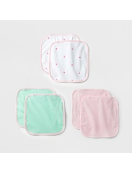 Baby Lightweight 6pk Washcloth Set Cloud Island™   Pink/Mint by Cloud Island™