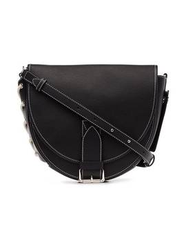 Black Bike Leather Shoulder Bag by Jw Anderson
