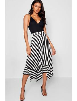 Contrast Stripe Full Midi Skirt by Boohoo