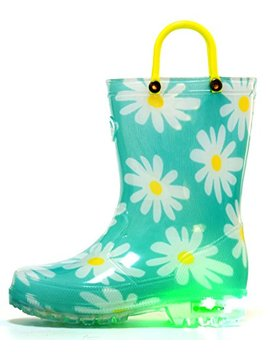 Outee Toddler Boys Girls Printed Light Up Rain Boots by Outee