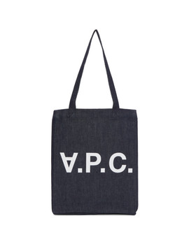 Indigo Denim Laure Tote by A.P.C.