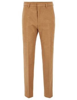Slim Fit Hose Aus Stretch Baumwolle In Cropped Länge by Boss