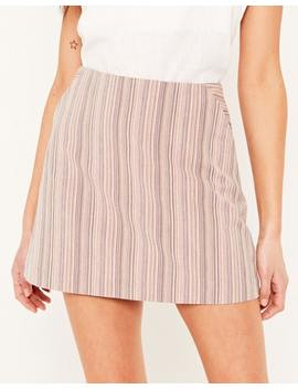Striped Mini Skirt by Glassons