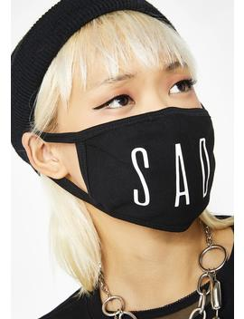 Sad Face Mask by Mary Jane Nite