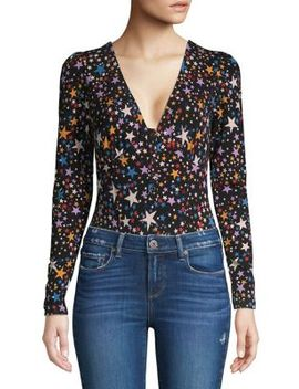Star Printed Long Sleeve Bodysuit by Free People