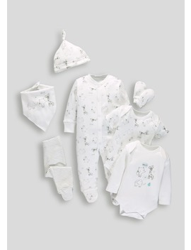 Unisex 7 Piece Set (Tiny Baby 9mths) by Matalan