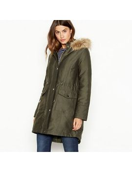 The Collection   Khaki Green Padded Parka Coat by The Collection