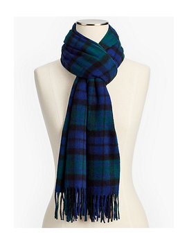 Cashmere Scarf   Black Watch Plaid by Talbots