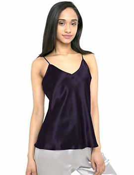 Myk 21 Momme 100 Percents Pure Silk Camisole With Adjustable Strap For Women, 100 Percents Mulberry Silk, Lightweight And Breathable by Myk
