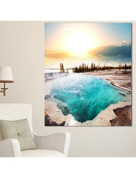 Designart 'crystal Clear Lake In Yellowstone' Oversized Landscape Canvas Art by Design Art