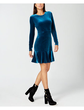 Velvet Flounce Dress by Michael Michael Kors