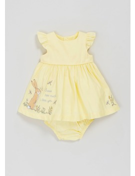 Girls Guess How Much I Love You Dress & Knickers Set (Newborn 12mths) by Matalan