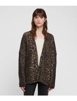 Leopard Cardigan by Allsaints