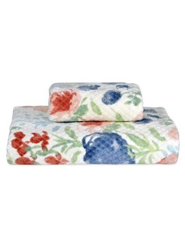 Better Homes And Gardens Tranquil Floral Bath And/Or Hand Towel by Better Homes & Gardens