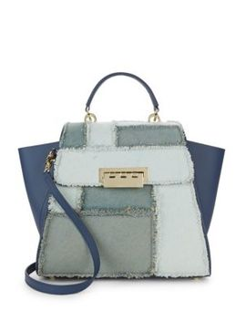 Eartha Patchwork Trapeze Tote Bag by Zac Zac Posen