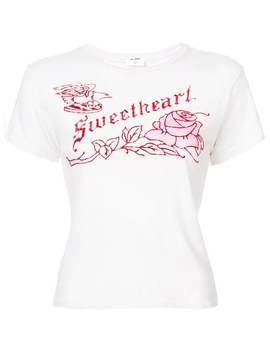 Sweetheart Print Classic T Shirt by Re/Done