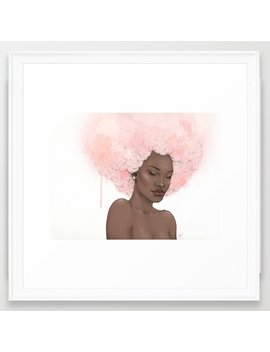 Pink Fro Framed Art Print by