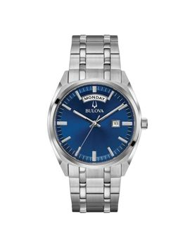 Bulova 96 C125 Men's Classic Blue Dial Stainless Steel Bracelet Watch by Bulova