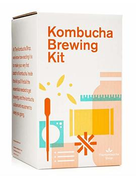 Kombucha Brewing Kit With Organic Kombucha Scoby. Includes Glass Brew Jar, Organic Kombucha Loose Leaf Tea, Temperature Gauge, Organic Sugar And More! by The Kombucha Shop