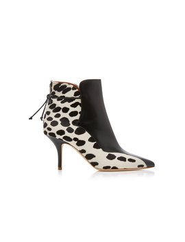 Jordan Leather Paneled Calf Hair Ankle Boots by Malone Souliers By Roy Luwolt