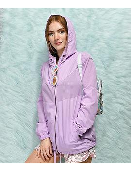 Empyre Zola Lavender Mesh Windbreaker Jacket by Empyre