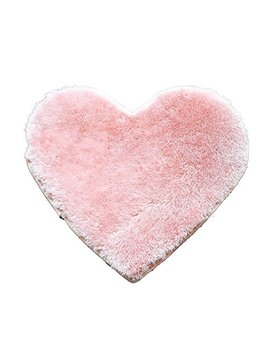 Ge K Lok Children's Decorative Heart Shape Area Rug Doormat Floormat Bath Mat Bathroom Shower Rug Carpet 40x30cm(Pink) by Ge K Lok