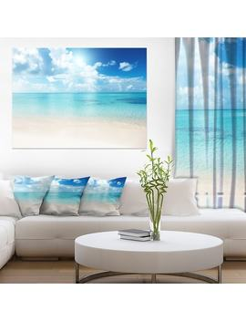 Sand Of Beach In Blue Caribbean Sea by Design Art