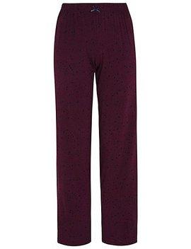 Plum Star Print Jersey Pyjama Bottoms by Asda